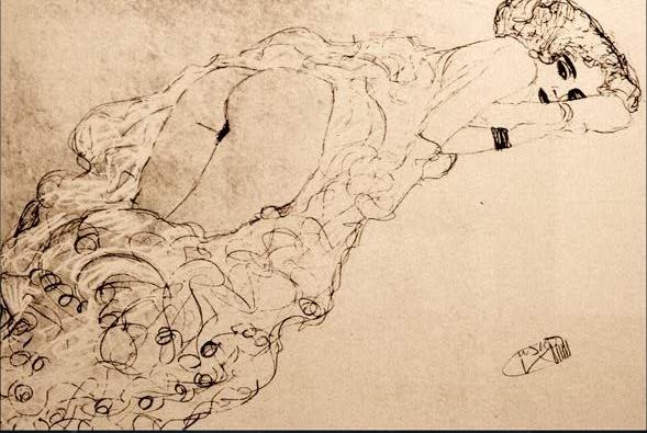 Klimt - Woman SemiNude